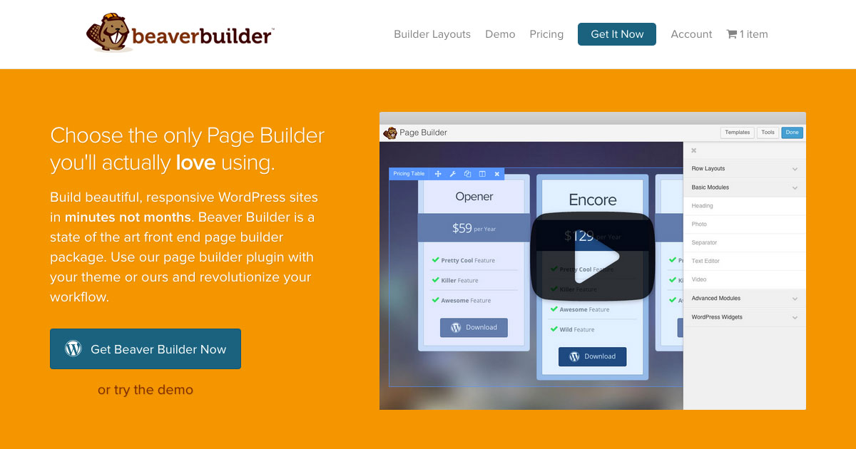 how to build a landing page with beaver builder